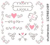 collection of beautiful wedding ... | Shutterstock .eps vector #1329881489