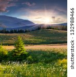beautiful summer landscape in... | Shutterstock . vector #132988466