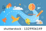 creative thinking concept. the... | Shutterstock . vector #1329906149