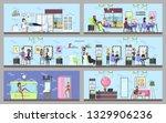 beauty salon interior. making... | Shutterstock . vector #1329906236