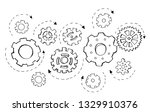 doodle icon of gears....   Shutterstock .eps vector #1329910376