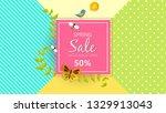spring sale background banner...   Shutterstock .eps vector #1329913043