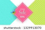 spring sale background banner...   Shutterstock .eps vector #1329913070