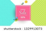 spring sale background banner...   Shutterstock .eps vector #1329913073
