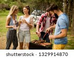 group of young people enjoying... | Shutterstock . vector #1329914870