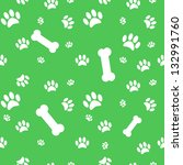 background with dog paw print... | Shutterstock . vector #132991760