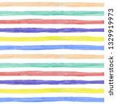 watercolor stripes seamless... | Shutterstock . vector #1329919973
