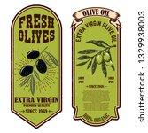 set of fresh olive oil labels.... | Shutterstock .eps vector #1329938003