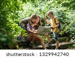 mother and her little sons... | Shutterstock . vector #1329942740