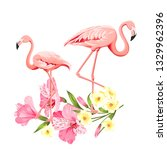 the flower paradise. summer... | Shutterstock .eps vector #1329962396
