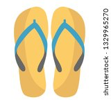 slippers flat icon vector  | Shutterstock .eps vector #1329965270