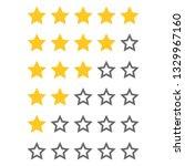 rating golden stars  set....   Shutterstock .eps vector #1329967160