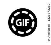 gif icon vector illustration.... | Shutterstock .eps vector #1329973280