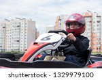 racing on the sports karting... | Shutterstock . vector #1329979100