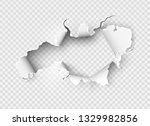 ragged hole torn in ripped... | Shutterstock .eps vector #1329982856
