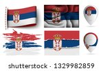 set of serbia flags collection... | Shutterstock .eps vector #1329982859