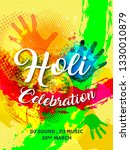 happy holi festival card with...   Shutterstock .eps vector #1330010879