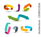 colorful arrows set. vector...   Shutterstock .eps vector #1330011026