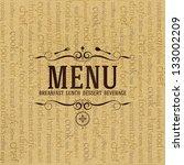 restaurant menu design | Shutterstock .eps vector #133002209