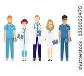 hospital medical staff team... | Shutterstock .eps vector #1330023470