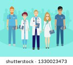 set of doctors characters.... | Shutterstock .eps vector #1330023473