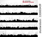 Stock vector set of grunge borders grunge background grunge brushes retro background vintage background 133003439