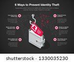 simple infographic for 6 ways... | Shutterstock .eps vector #1330035230