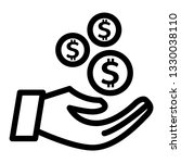 giving money icon outline vector