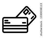 credit card icon outline vector
