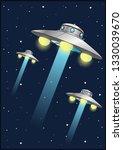extraterrestrial flying saucers ... | Shutterstock .eps vector #1330039670