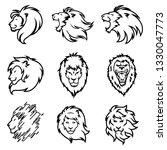 lion logo set. premium design... | Shutterstock .eps vector #1330047773