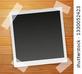 polaroid retro photo frame with ... | Shutterstock .eps vector #1330052423