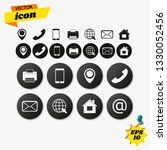 contact us icons vector.... | Shutterstock .eps vector #1330052456