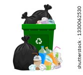illustration garbage waste and... | Shutterstock .eps vector #1330062530