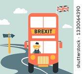 brexit concept illustration... | Shutterstock .eps vector #1330064390