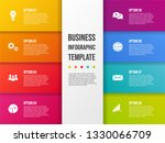 colorful infograph with... | Shutterstock .eps vector #1330066709