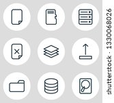 vector illustration of 9 memory ... | Shutterstock .eps vector #1330068026