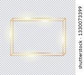 3d horizontal golden frame.... | Shutterstock .eps vector #1330073399