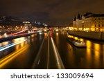 Panorama Of Seine With Pont Au...
