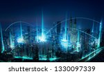modern abstract cityscape and... | Shutterstock . vector #1330097339