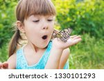 child with a butterfly. idea... | Shutterstock . vector #1330101293