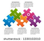 infographics template with... | Shutterstock .eps vector #1330102010
