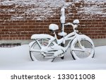 Bike Covered With Fresh Snow I...