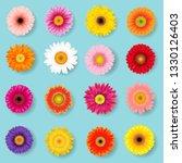 big colorful gerbers set  | Shutterstock . vector #1330126403