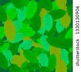 raster spring leaves seamless... | Shutterstock . vector #1330130906