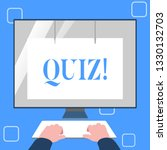 handwriting text writing quiz.... | Shutterstock . vector #1330132703