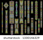 colorful stripes and dots....   Shutterstock .eps vector #1330146329