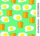 vector eggs and bread seamless... | Shutterstock .eps vector #1330158806