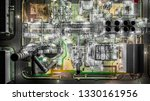 oil refinery plant from... | Shutterstock . vector #1330161956