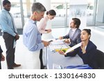 side view of diverse business... | Shutterstock . vector #1330164830